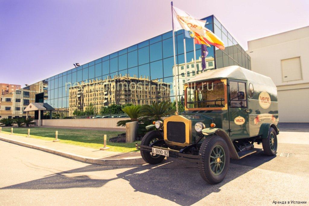 Один из первых грузовиков для перевозки шоколада, Испания, Вийахойоса