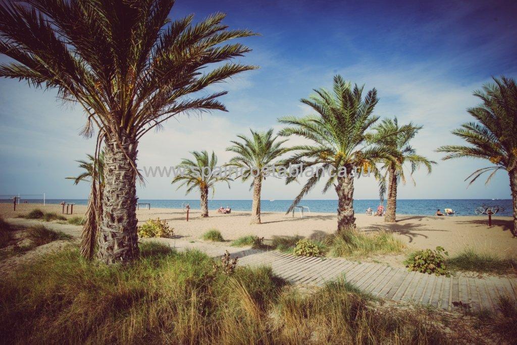 Пляж Лас Маринас, Дения, Испания. Тренажеры.
