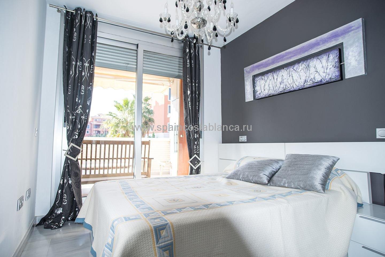 Спальня апартаментов Элеганс в Дении