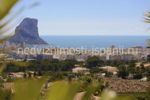 Вид на море и Ифач с террасы виллы в Кальпе
