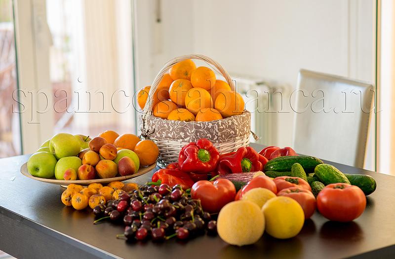 Фрукты и овощи Испании